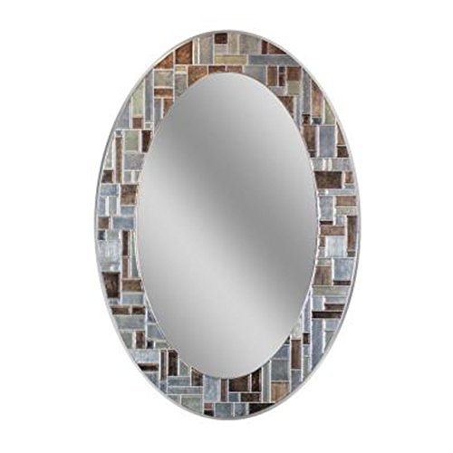Oval Mosaic Tile - Headwest Windsor Oval Tile Wall Mirror, 21 inches by 31 inches, 21