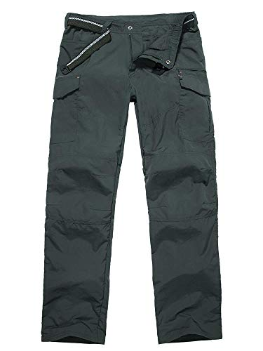Men's Outdoor Quick Dry Lightweight Hiking Fishing Cargo Work Pants Trousers