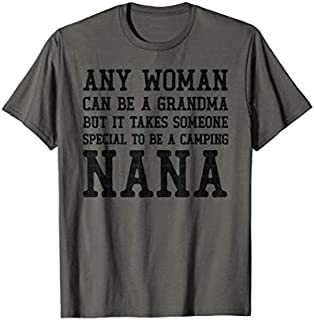 Cool gift Woman Grandma Camping Nana Camping  Women Long Sleeve Funny Shirt