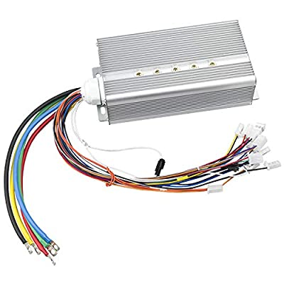 Hard Start Electric Motor Controller 48V 2000W 45A DC Brushless Reverse Controller for Electric Scooter Go Kart Conversion Kit (45A Hard Start Controller) : Sports & Outdoors