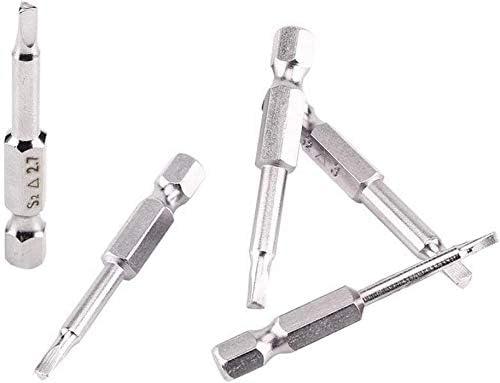 2mm Bestgle 5PCS Embouts de Tournevis Magn/étique /à T/ête Triangulaire Set S2 Acier 1,8mm Longueur de 50mm 2,3mm Tige 6.35mm Hexagonale 3mm 2,7mm