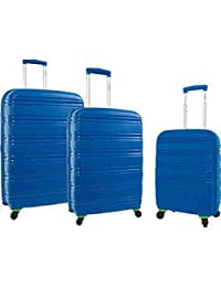 Samboro Seascape 3-pc. Hardside Luggage Set, Seascape Hardside Suitcase Set (Blue)