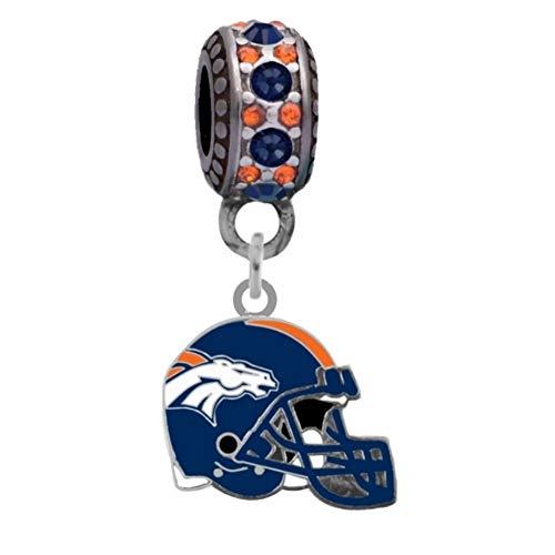 Final Touch Gifts Denver Broncos Helmet Charm Fits European Style Large Hole Bead Bracelets - Denver Broncos Charm