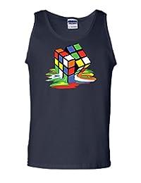 Melting Rubik's Cube Tank Top Funny Sheldon Geek TV Show