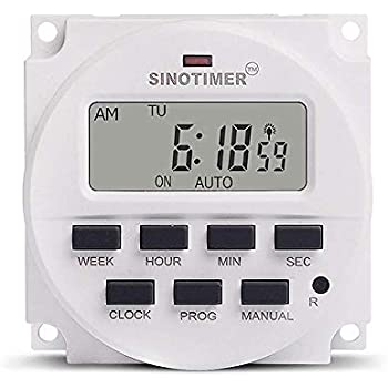 1 Second Interval 220VAC Power Supply 7 Days Weekly Programmable Digital Electronic Lighting Daily Timer Switch