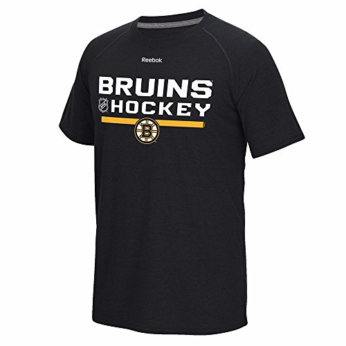 Boston Bruins Heather Black Reebok Locker Room Ultimate Synthetic Performance Shirt (Small) -