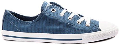 Converse Chuck Taylor All Star Dainty Canvas Chaussures Semelles Sneaker Fines En Toile (Blue Coast/White - Bleu/Blanc) 36