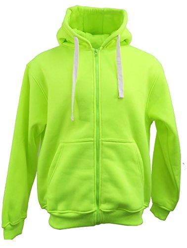 Henry & William Men's Basic Fleece Zip up Hoody L Lime