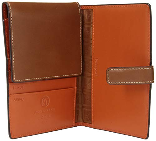 41fGgUptf4L - Lodis Audrey RFID Passport Wallet with Ticket Flap, sequoia/papaya