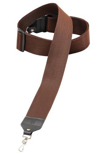 Levy's Leathers M10-BRN 2-inch Nylon Banjo Strap, Brown
