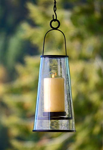 H Potter Decorative Hanging Patio Deck Candle Holder Lantern Indoor Outdoor -