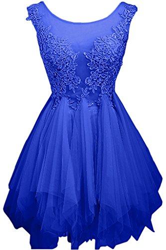 Tuell Blau Kurz Braut Cocktailkleider Blau Mini Jugendweihe Royal Kleider Abendkleider Partykleider Festlichkleider La Royal mia qtPwxnAp