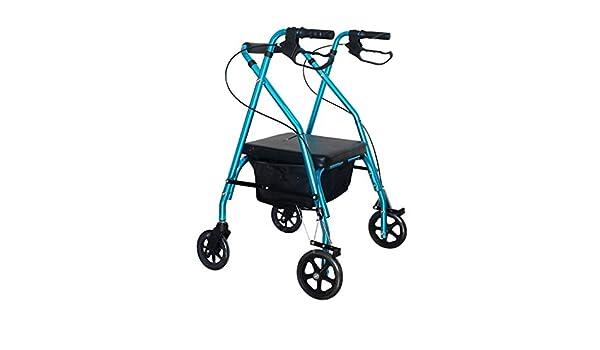 ZXXX Andador Plegable con Asiento 4 Ruedas para Ancianos ...