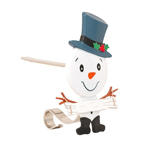 Haute Decor The Original MantleClip Stocking Holder with Snowman Family (Father)