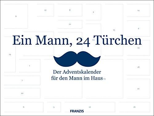 FRANZIS Ein Mann, 24 Türchen: Der Adventskalender für den Mann im Haus | Ab 14 Jahren Kalender – 30. Juli 2018 FRANZIS Verlag B07B16NS86 Weihnachten Briefchen