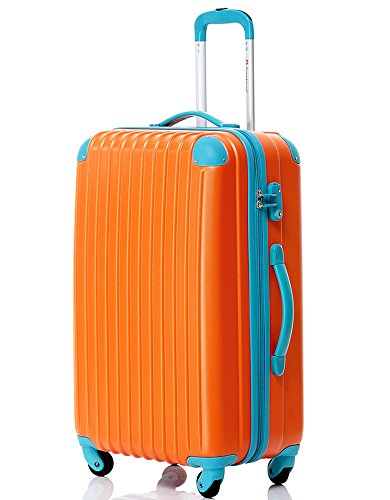 "Executive Business Bag Luggage Travel Flight Case Suitcase NEW (24"", ORANGE & BLUE)"