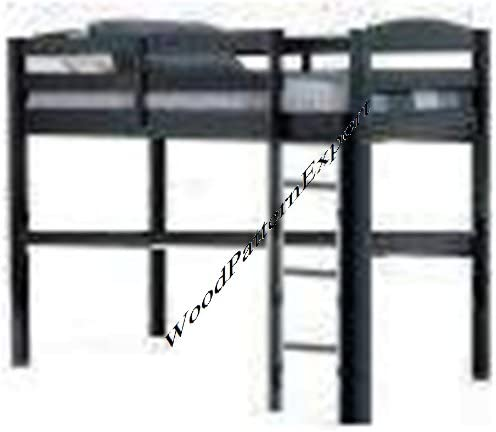 SVÄRTA Bunk bed frame - silver-colour - IKEA | 433x498
