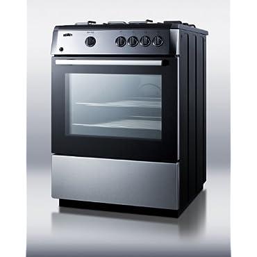 Summit PRO24G Kitchen Cooking Range, Stainless-Steel/Black