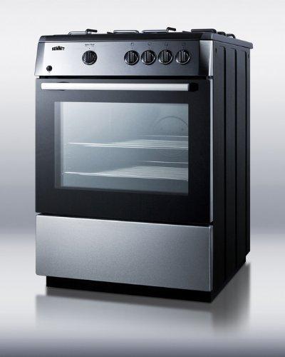 Summit PRO24G Kitchen Cooking Range, (24in Backguard)