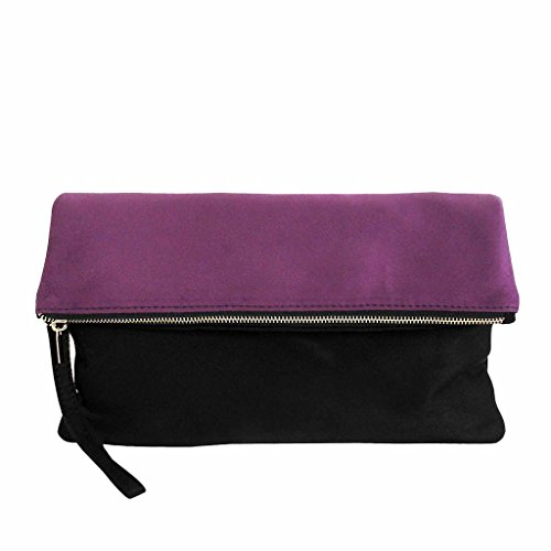 - Soft Faux Suede Colorblock Wristlet