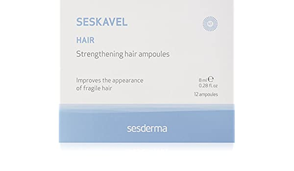 Amazon.com: Sesderma Seskavel Strengthening Hair Ampoules, 0.28 oz.: Luxury Beauty