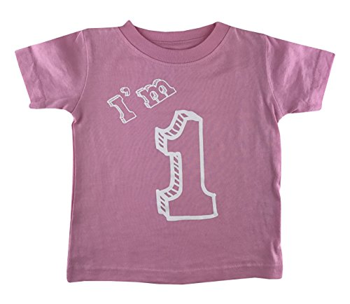 1st T-shirt - I'm 1 T-Shirt - One Year Old Birthday Party (18 Month, Pink)