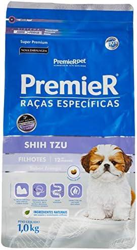 Ração Premier Raças Específicas Shih Tzu para Cães Filhotes – 1kg Premier Pet para Todas Todos os tamanhos de raça Filhotes –