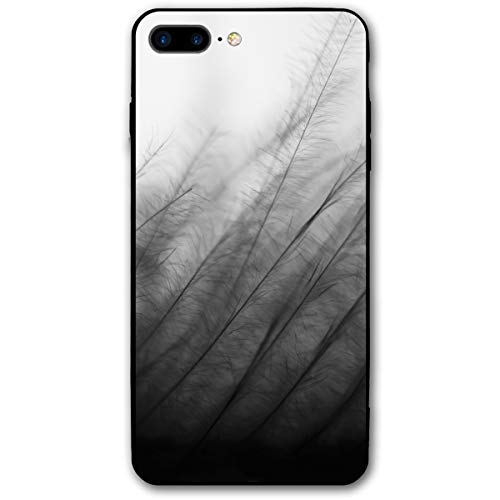 Black White Wallpaper Windswept Plants iPhone 7/8 Plus Case Cover Phone Classic Shell Full Protective Case 5.5