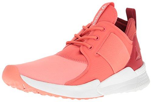 Reebok Women's Guresu 1.0 Running Shoe, Stellar Pink/Fire Coral/Canyon Red/Black/White, 5 M US Canyon Coral