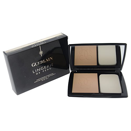 Guerlain Lingerie De Peau Nude SPF 20 Powder Foundation for Women, No. 01 Pale Beige, 0.35 Ounce ()