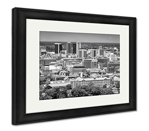 (Ashley Framed Prints Birmingham, Alabama, USA Downtown Skyline from Above at Dusk, Wall Art Home Decoration, Black/White, 30x35 (Frame Size), Black Frame, AG32675567)