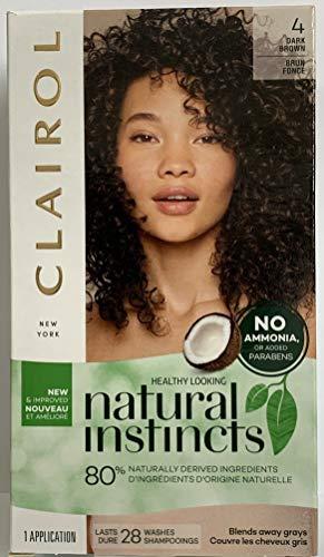 Clairol # 4/28 Natural Instincts Dark Brown # 4/28 1 Kit