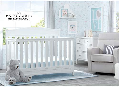 41fGkh5WcqL - Delta Children Emery 4-in-1 Convertible Baby Crib, White