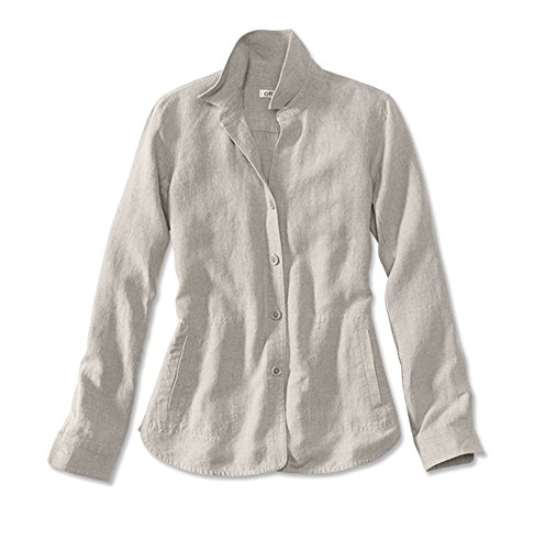 Orvis Women's Shoreline Linen Shirt Jacket, Flax, Medium (Flax Linen Jacket)
