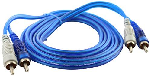 Bullz Audio (B22BR) Blue 22' Transparent RCA Cable