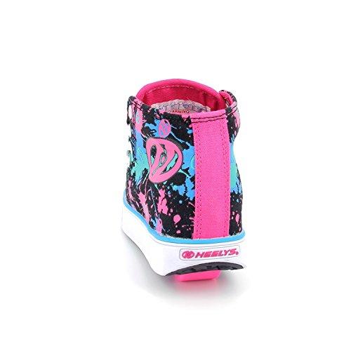 Heelys VELOZ 2017 black/pink/blue splatter