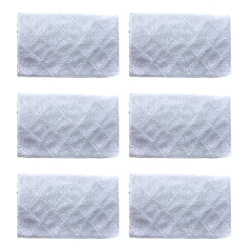 - charts_DRESS 6pcs Steam Mop Pads Cleaning Mop Pads Replacement Compatible with Light 'N' Easy S3101 S7326 (White)