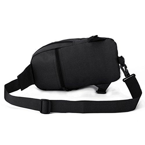 cinmaul táctica militar Mochila de hombro cintura bolsa de deporte Rover Sling Cuerda Senderismo Bolso de caza, hombre, Desert Camouflage negro