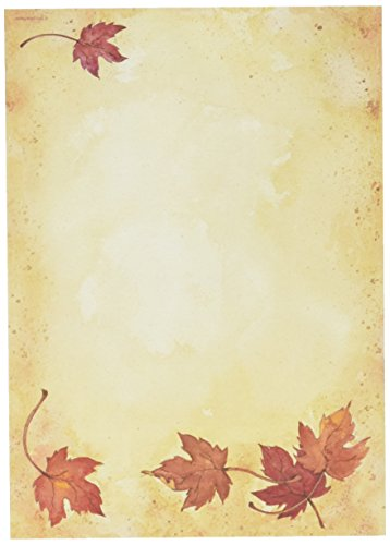 Great Papers! Fall Leaves Flat Card Invitations with Envelopes, 5.5