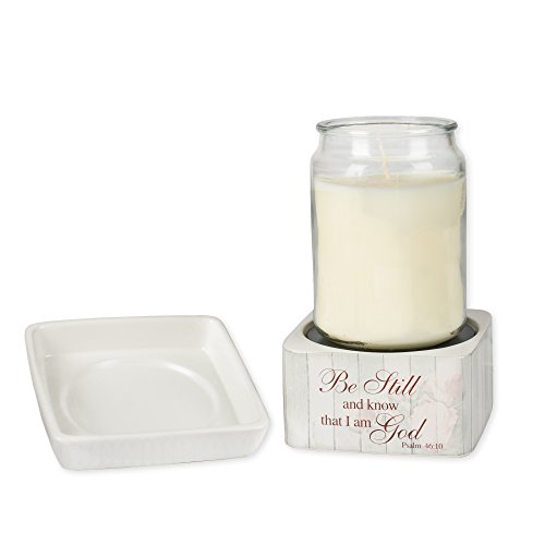 Elanze Designs Be Still Psalm 46:10 Stoneware Electric 2 in 1 Jar Candle and Wax Tart Oil Warmer