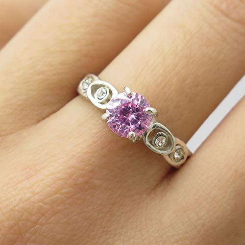 Pink C Z Ring Size 8 DG-426