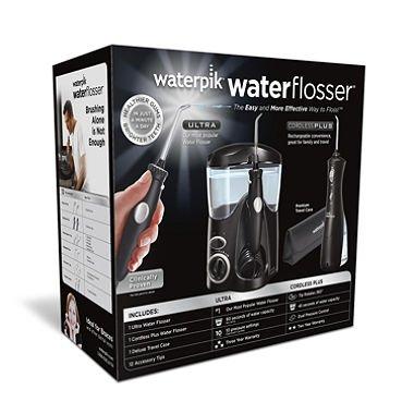 Waterpik Ultra Water Flosser Combo, Black - Model WP-112/WP-462 (pack of 6)