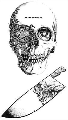 Tatuajes temporales de calavera vengadora, para hombre y mujer ...