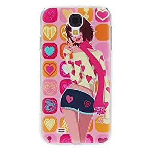 Scarf Girl Pattern Hard Case for Samsung Galaxy S4 I9500
