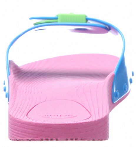 Scholl Pop - Sandalias de pala unisex Rosa (Pink/Turquoise/Lime Green 1574)