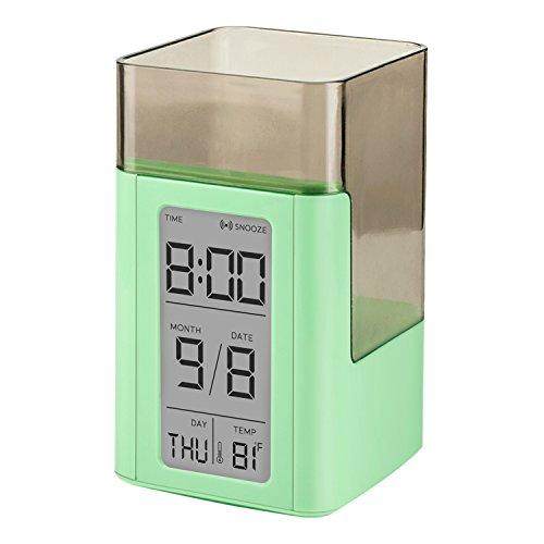 Egundo Large Number Digital Alarm Clock with Pen Holder Snoo
