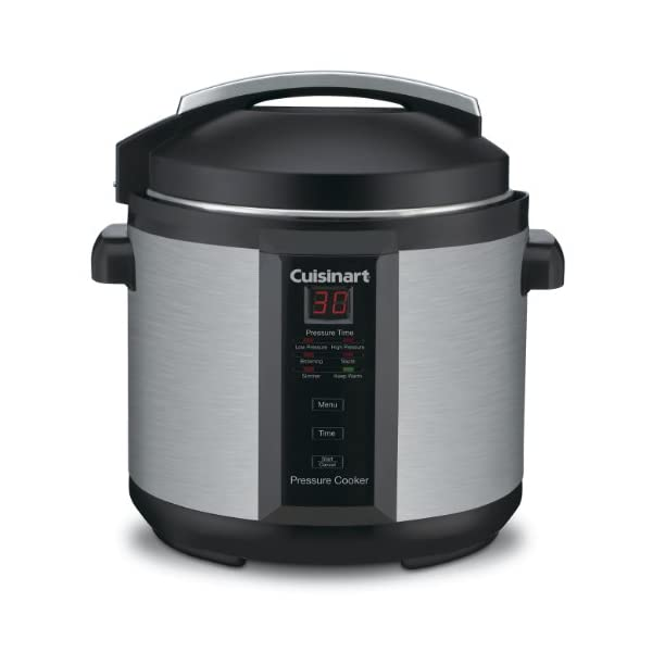 Cuisinart CPC-600AMZ 1000-Watt 6-Quart Electric Pressure Cooker, Brushed Stainless and Matte Black 1