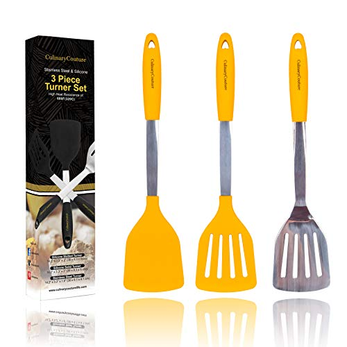 Yellow Silicone Spatula Turner Set product image