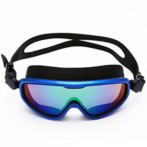 LE Lunettes de natation hommes universel HD étanche anti-buée grande boîte racing équipement de plongée adulte