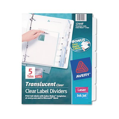 Plastic 5 Tab 3hp Punched - 6